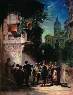 Spanische Serenade von Carl Spitzweg (1808–1885)