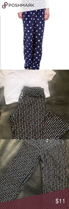 Old Navy Pajama Pants Cozy black  lounge pants in an orange and white polka dot design. Elastic waist with mini faux buttons. Very lightweight, perfect for spring & summer! 100% cotton. My items ship from a pet free, smoke free home and are same or next day shipping! Old Navy Intimates & Sleepwear Pajamas
