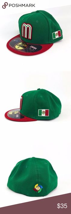 adddc9becbcf4 New Era Mexico World Cup Fitted Cap New Era 59Fifty Cap Mexico World  Baseball Classic Fitted