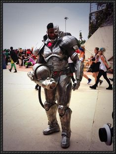 Batman vs. Superman Cyborg Cosplay