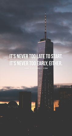 It's never too late to start. It's never too early, either.  Head over to www.V3Apparel.com/MadeToMotivate to download this wallpaper and many more for motivation on the go! / Fitness Motivation / Workout Quotes / Gym Inspiration / Motivational Quotes / Motivation