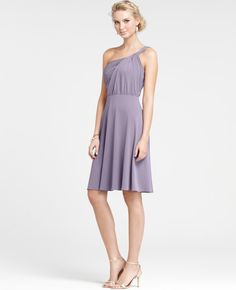 Ann Taylor Jersey One Shoulder Bridesmaid Dress