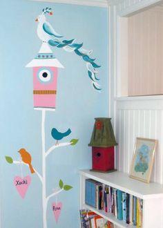 This is a fun bird mural