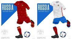 Camisa da Seleção da Rússia Eurocopa 2016-2017 Adidas