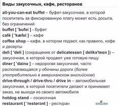 Понравилось Learn Russian, All You Can, Deli, Coffee Shop, Buffet, English, Bulgarian, Sentences, Study
