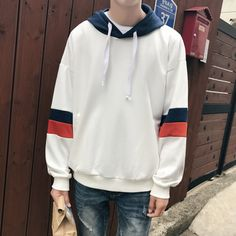 2018 frühling neuen männer beiläufige mit kapuze sweatshirt männer  baumwolle hoodies solid lose stil mantel kleidung a2d3d98939