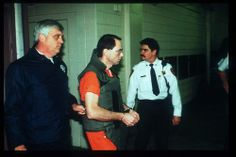 Oklahoma bombing suspect Terry Nichols arrives at court January 31, 1996 in Oklahoma City, OK. Nichols is accused of assisting Timothy McVei...