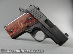 Sig Sauer P238 with Rosewood grips in 380acp.