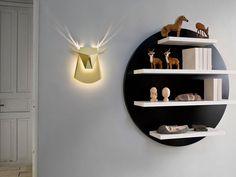 Gold Aluminum Deer Head LED light fixture