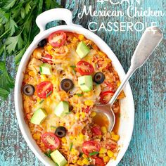 4 Can Mexican Chicken Casserole Recipe Main Dishes with cooked chicken, cooked…