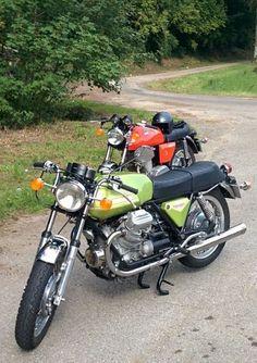 Moto Guzzi V7 Sport and Laverda 750 SF, Vallée de la Chiers, France