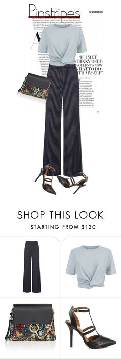 """""""Office Pinstripes"""" by perilousness-fashion on Polyvore featuring Marc Jacobs, T By Alexander Wang, Chloé and Steve Madden"""