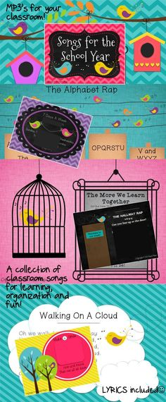 Near and dear to my store is my very own collection of simple recorded songs and raps to assist with classroom learning and organization- thrown in with a little fun! This collection will grow as I continue to add write and add songs. MP3's included, as well as a beautiful PowerPoint displays and lyric sheets.