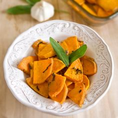 Thanksgiving Recipes : Roasted Sweet Potatoes with Sage Recipe