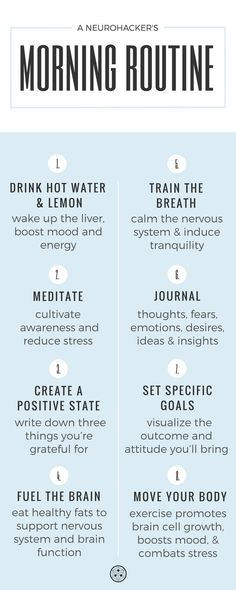Set your day up for a win by creating a self-care morning routine. #neurohacker #SelfImprovement
