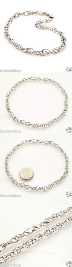 adjustable snake anklet beads to dp ankle sterling silver bracelets with faceted chain quot inches
