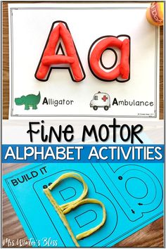 Fine motor alphabet activities are a fun learning center for preschool and kindergarten kids. In this blog post get free printables to use with your children today! #finemotor #finemotorskills #alphabetactivities #kindergarten #preschool Tracing Practice Preschool, Preschool Learning Activities, Alphabet Activities, Preschool Classroom, Learning Centers, Preschool Activities, Kids Learning, Motor Activities, Teaching Ideas