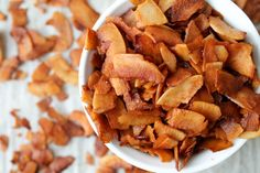Coconut 'Bacon' – Vegan & Gluten Free I----interesting..... Maybe try this for breakfast casseroles and salad topper