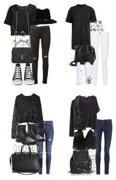 the weeknd concert by tyra482 on Polyvore featuring Proenza Schouler, 1205, MANGO, Surface To Air, Acne Studios, Frame Denim, rag & bone, Citizens of Humanity, H&M and Converse