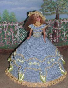 Crochet mode poupée Barbie Pattern  408 LADY par JudysDollPatterns