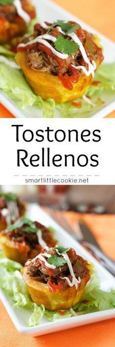 Meat Stuffed Fried Plantains |smartlittlecookie.net