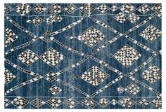 Maury Rug, Blue/Black