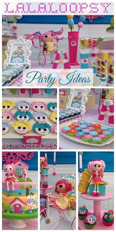 Gorgeous Lalaloopsy party ideas, especially the Lalaloopsy birthday cake! See more party ideas at CatchMyParty.com.