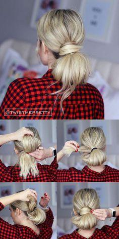 Miraculous Easy Bun Hairstyles Easy Bun And Bun Hairstyles On Pinterest Short Hairstyles Gunalazisus