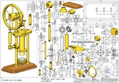Metal Detektor, Mechanical Engineering Projects, Solidworks Tutorial, Stirling Engine, Model Boat Plans, Drawing Projects, Cad Drawing, Mechanical Design, Technical Drawing