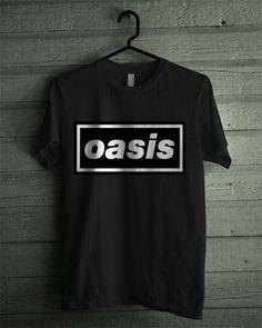 Oasis Band Black and White Shirt Tshirt Tee