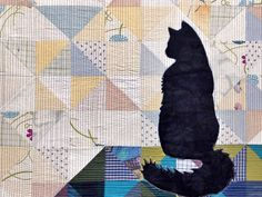 = free pattern and tutorial = Silhoucat Quilt Along by Luke Haynes at We All Sew. Combine piecing with an easy appliqué.