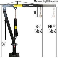 Pickup Truck Bed Jib Crane Lift Hoist 1,000 lb. Capacity