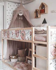 "Newest Pics Great Cost-Free Ikea Kura Piraten von Maren Pederson.maria Newest Pics Great Cost-Free Ikea Kura Pirates by Maren Pederson.maria Tips Cheap, toddler-friendly and amazingly functional, IKEA's popular ""KURA"" could be the b Kura Bed Hack, Ikea Kura Hack, Ikea Kura Bed, Ikea Hacks, Ikea Loft Bed Hack, Ikea Stuva, Ikea Raskog, Bed For Girls Room, Big Girl Rooms"