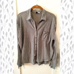 Micro-pinstripe grey button down Micro-pinstripe grey/white button down. Urban Outfitters Tops Button Down Shirts