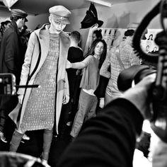backstage Max Mara Fall 2012
