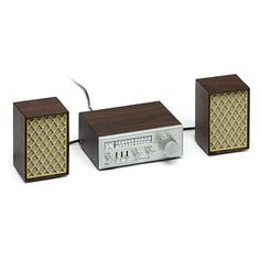 """With a look from the 70s when the hot """"fi"""" of the day was """"hi"""" not """"wi,"""" this receiver and speaker set pack today's technology into a classy faux woodgrain paneled exterior."""