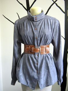 Silver Autumn Button Up S/M by TruleeDarling on Etsy, $30.00