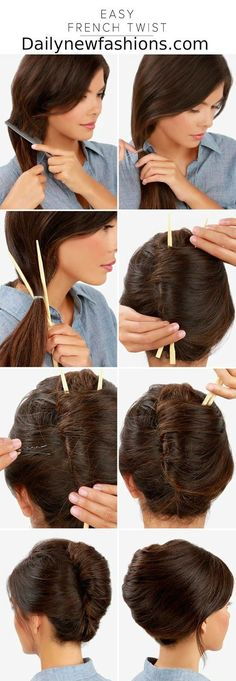 Easy French Twist #frenchtwisthair