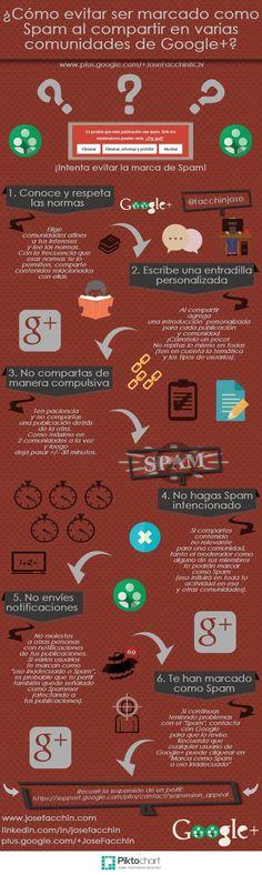 Cómo evitar ser marcado como #spam en Google+