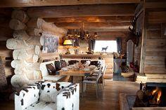 Уютное традиционное шале из сруба во Франции   Пуфик - блог о дизайне интерьера