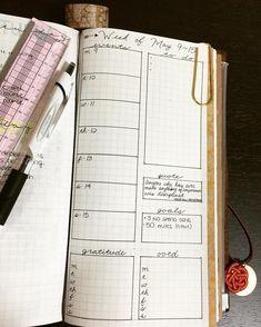 Bullet journal in a traveler's notebook