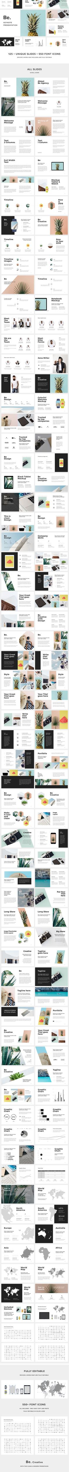 Be. Keynote Presentation Template • Only available here! → https://graphicriver.net/item/be-keynote-presentation/17118781?ref=pxcr