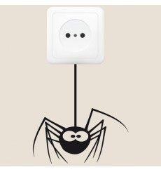 Sticker prise araignée   Fanastick.com