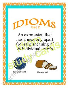 Idioms set 2 product from ScrapNteach1 on TeachersNotebook.com