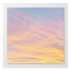 Blue Rose Yellow Sunrise Canvas Print ❤ liked on Polyvore featuring home, home decor, wall art, backgrounds, filler, clouds, canvas print, borders, picture frame and quotes