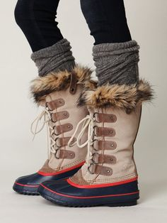 Free People Beige Joan Of Arctic Boot.  Finally a pair of cute snow boots!