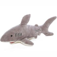 100cm Cute Shark Plush Toy Soft Stuffed Animal Doll Xmas Christmas Birthday Valentine Gift -- For more information, visit image link.