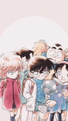 Ayumi, Genta, Mitsuhiko, Ai and Conan True Detective, Detective Aesthetic, Manga Detective Conan, Detective Conan Shinichi, Detective Comics, Detective Outfit, Magic Kaito, Dc Anime, Manga Anime