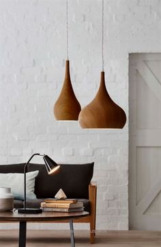 Add some texture with our range of Timber Grove Pendant Lights bunnings lighting interiordesign - Minimal Interior Design Modern Lighting Design, Interior Lighting, Home Lighting, Modern Lamps, Unique Lamps, Lighting Ideas, Lighting Stores, Task Lighting, Modern Ceiling