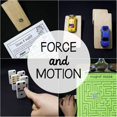 Studying force and motion?! These six science experiments and colorful posters area must! The easy to follow directions and printable record sheets make the activitiesperfect to use as science centers, STEM projectsor whole class lessons. Inside You'll Find --> 10 colorful posters  --> Does it Roll?  --> Racing Ramps  --> Push or Pull  --> Fast or Slow?  --> Domino Bowling  --> Is it Magnetic?  --> Magnet Mazes  The setis a great compliment to our States of Mat...